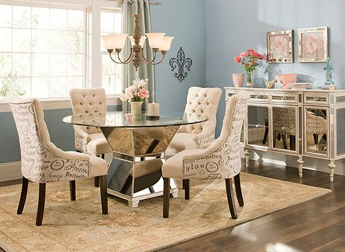 Mirage 5 Pc 48 Glass Dining Set Dining Sets Raymour And Flanigan Furniture For The Home
