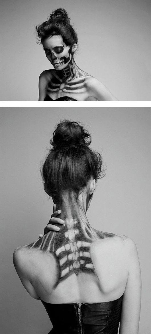 Esqueleto de Maquillaje por Mademoiselle Mu | Parrilla Inspiration | Design Inspiration: