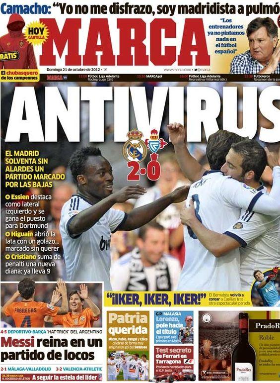 Antivirus / Portada del 21 de octubre de 2012