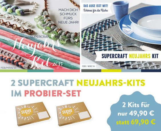 2 supercraft Kits im Set / Neujahr 2014 & 2015 von supercraft auf DaWanda.com