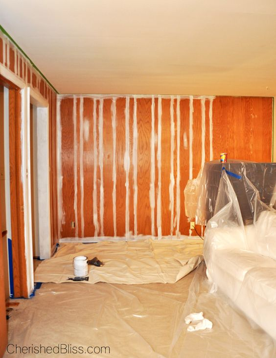 Paint wood paneling wood paneling and no sanding on pinterest Can you paint wood paneling