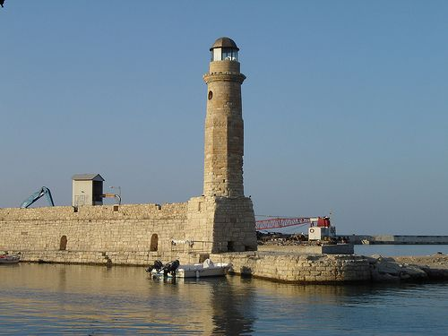 Demetrio's Travel Pages: Rethymno lighthouse, Crete, Greece
