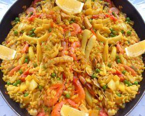 Paella De Mariscos Al Horno Receta De Paella De Mariscos Paella De Mariscos Arroz Con Mariscos Receta