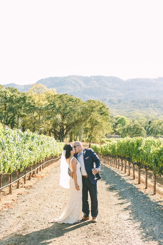 Photography : Margaret Austin Photography Read More on SMP: http://www.stylemepretty.com/california-weddings/glen-ellen/2016/02/20/rustic-blush-and-blue-wine-country-wedding/