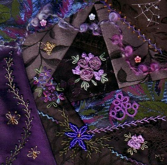 I ❤ crazy quilting & beadwork & ribbon embroidery . . . Crazies Round Robbin ~By Nanna_J: