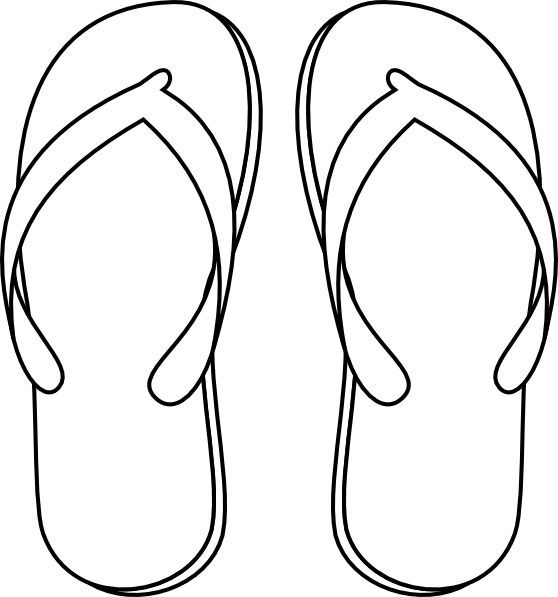 15+ Flip Flop Black And White Clipart