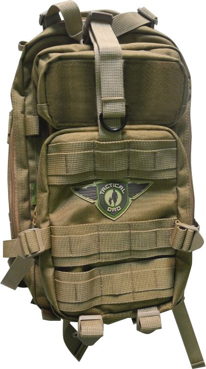 khaki dad on diaper duty d o d d xh backpack w badges dads dad diaper bag and bags. Black Bedroom Furniture Sets. Home Design Ideas