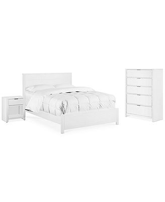 Tribeca White 3 Piece Bedroom Set Full Bed Nightstand Chest Declan S Br Pinterest Shops Bedroom Sets And Products