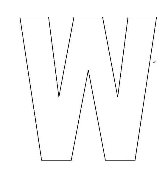 Alphabet Letter W Template For Kids Jpg 2 000 215 2 200 Pixels