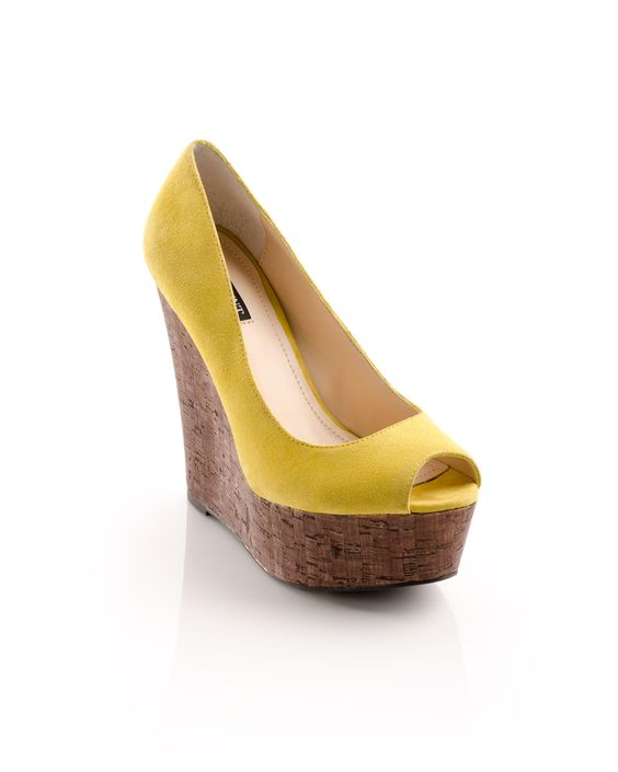 Courtney Wedge Heel @ it's yellow!! @Courtney Pearson