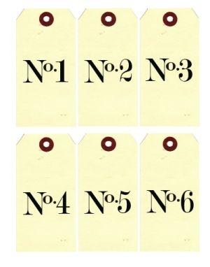 Printable Number Tags by natalie-w