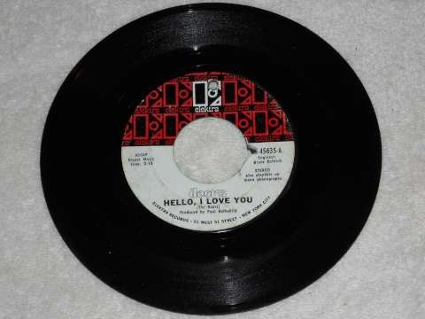 The Doors 45 Hello I Love You and Love Street 45rpm record for sale. ek-45635