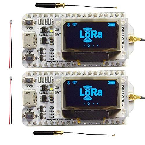 Diymalls 915mhz Esp32 Lora Oled 0 96 Sx1276 Transceiver Module Lora Antenna U Fl Ipex To Sma 2p 1 25mm Battery Co Arduino Development Board Arduino Sensors