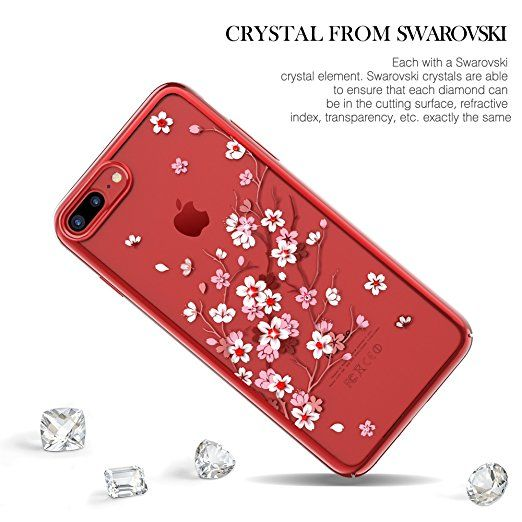 Amazon Com Kingxbar For Apple Iphone 8 Plus Case Iphone 7 Plus Case Bling Diamond Crystals From Swarovski Element Fa Iphone Cases Iphone 7 Plus Cases Iphone