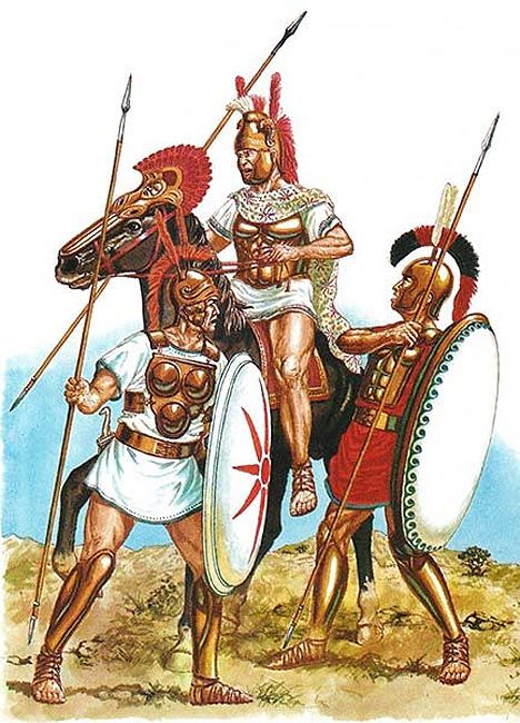 "Samnite, Campanian and Lucanian warriors. In a number of hard fought battles, the Romans defeated the Latin League, taking away the sovereignty of their states, who subsequently assimilated into Latium. The consul, Lucius Furius Camillus, asked the Senate: ""Do you wish to adopt ruthless measures against a people that have surrendered and been defeated? ... Or do you wish to follow the example of your ancestors and make Rome greater by conferring her citizenship on those whom she has…"