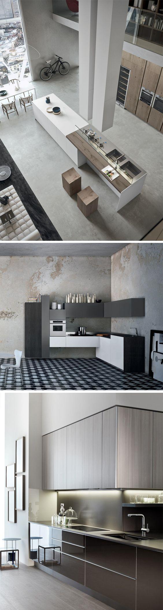 Cocina con el color del suelo