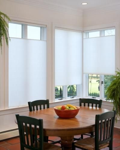 Blinds Com Brand Cordless Top Down Bottom Up Cellular Shades In Cool White Impress Friends Wi With Images Living Room Windows Blinds For Windows Kitchen Window Treatments