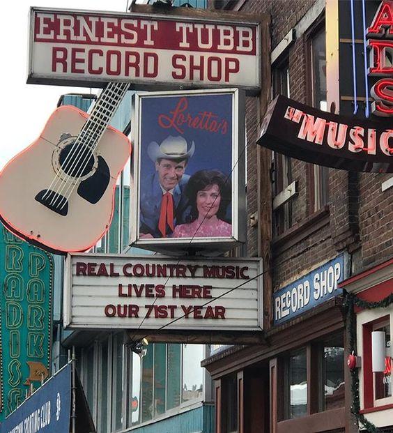 Ernest Tubb Record Shop Broadway downtown Nashville. #nashville #downtownnashville #lowerbroad #lowerbroadway #lowerbroadwaynashville #ernesttubbrecordshop #ernesttubb #lorettalynn #realcountrymusic