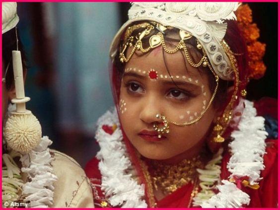 Indian child bride.: