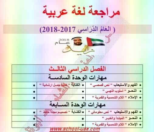 ملزمة مراجعة مادة اللغة العربية للصف الثانى الفصل الثالث 2019 2nd Grade School Journal