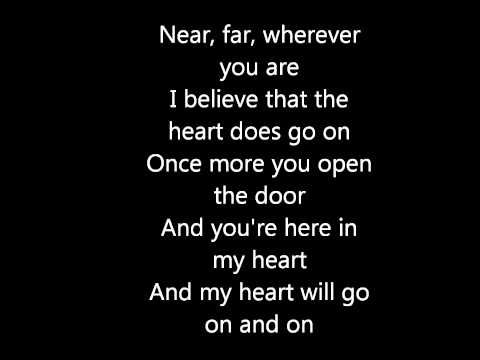 My Heart Will Go On Celine Dion Testo Youtube Celine Dion Canzoni Celine