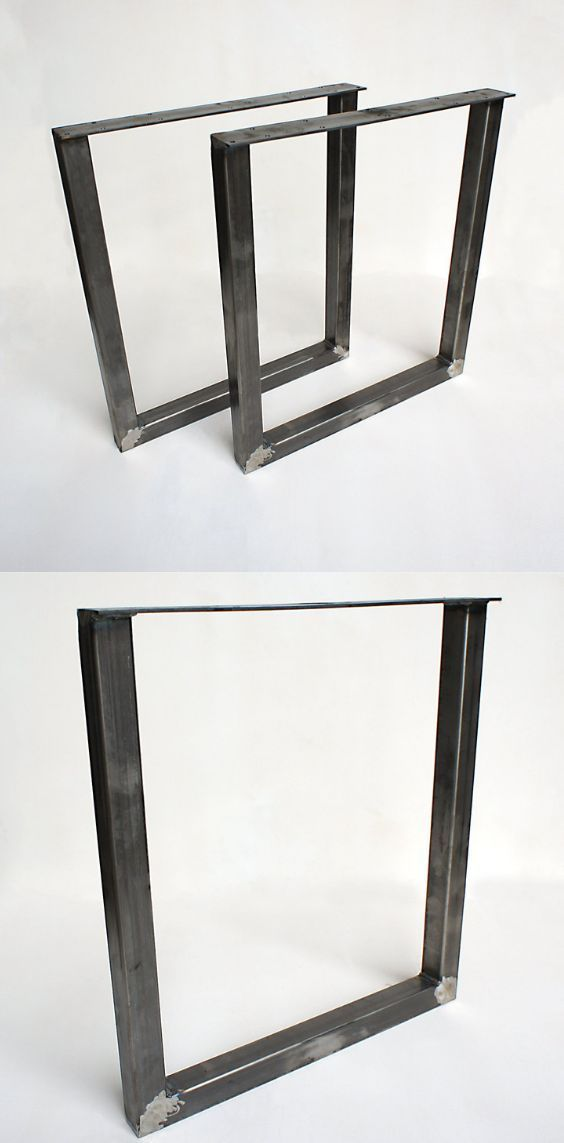 Steel Table Legs U Shape 2x2 Diy Table Legs Diy Table Legs Steel Table Legs Table Legs