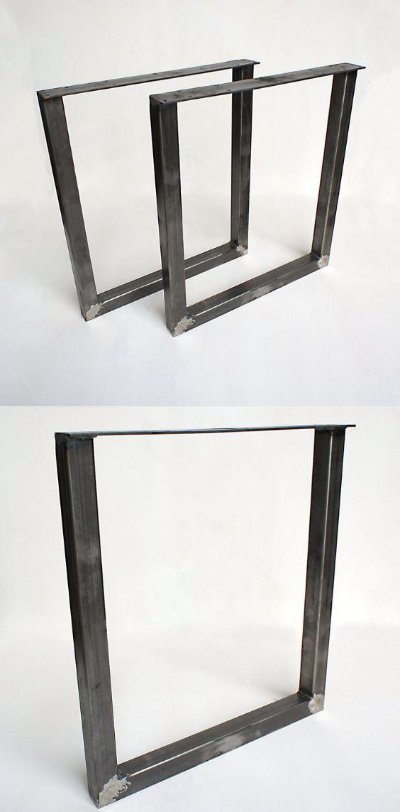 Steel Table Legs U Shape 2x2 Diy Table Legs Diy Table Legs