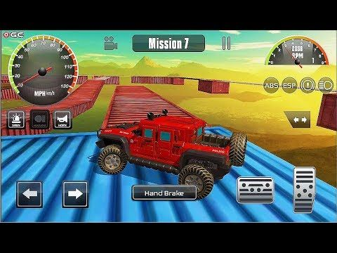 Impossible Police Hummer Car Tracks 3d Stunts Car Jeep Games