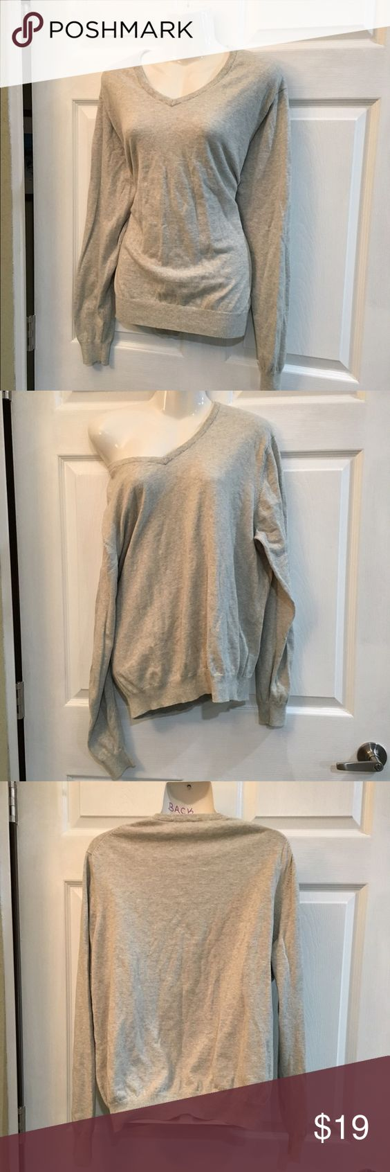 Light gray sweater merona Never worn only tried on & washed once Merona Sweaters