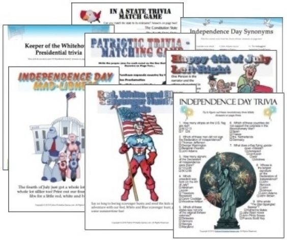 fourth of july quizzes printable