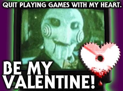 Horror Movie Valentine's Day Cards from Freddy In Space. http://www.freddyinspace.com/2013/02/freddy-in-spaces-horror-movie-valentines.html?m=0: