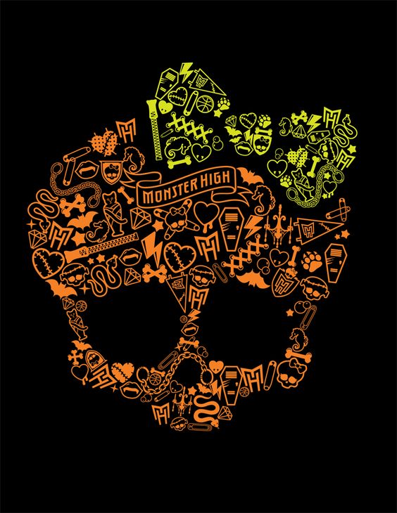 monster skull black wallpaper - photo #4