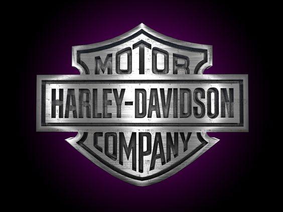 Harley Davidson 3D logo engraved in steel