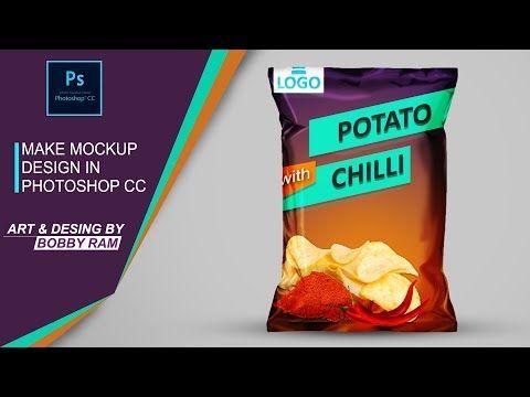 Download Mockup Y Diseno De Empaque De Papas En Photoshop Cc Youtube Photoshop Chip Bag Chips