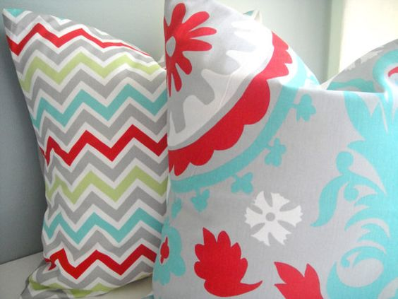 Set Of Two 18x18 Coordinating Pillow In by simplydivinebyjoann, $34.00
