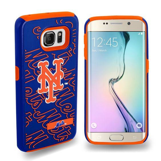 Dual Hybrid Impact Case For Samsung Galaxy S6 Edge Mlb New York Mets, White