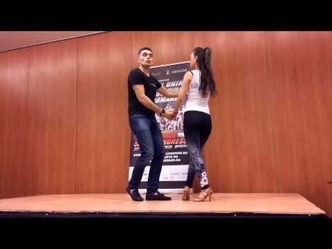 Workshop salsa on 1 intermediate Irina & Razvan - NSC Brasov 2015 - YouTube