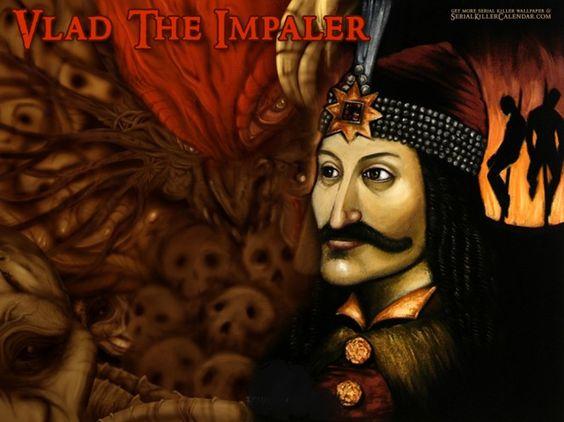 Vlad O Empalador - Além de muito conhecido por defender seu povo contra tudo e todos Vlad Tepes também era conhecido por seus atos de crueldade com seus súditos e contra seus inimigos. Usava de métodos de tortura e recebia o título de Empalador, pois mandava empalar até uma família inteira.
