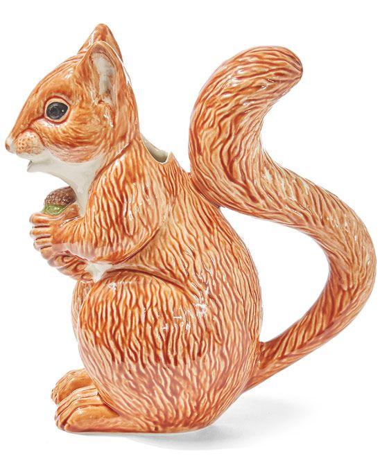 Bordallo Pinheiro Red Squirrel Earthenware Pitcher