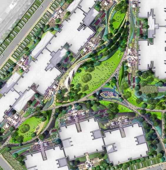 Lotus park india masterplan sirkulasinya landscape for Landscape architects in india