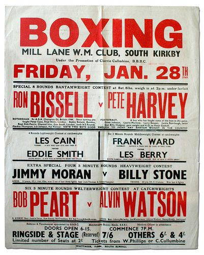 1949 Boxing Poster