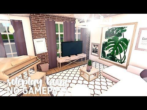 Roblox Bloxburg No Gamepass Roleplay Home The Tea On Highschool Youtube Unique House Design Tiny House Layout Cute Living Room