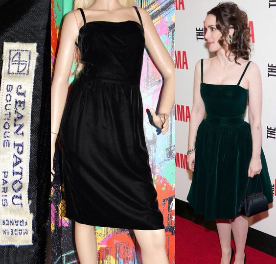 Jean patou vintage Black cocktail dress vs Coco Chanel dress. Worn by Winona Ryder.