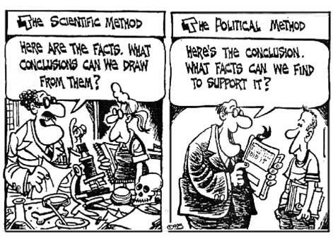 Image result for politics vs science