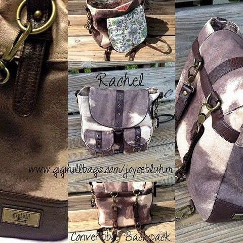 Rachel Convertible Backpack from Gigi Hill Bags! Came in pretty handy this weekend hiking at Weedon Island……best part....earned it from my Showcase....and you can too…..become a hostess to get great incentives. Msg me for details!