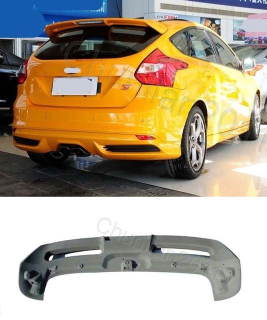 Factory Style Spoiler Wing Abs For 2012 2018 Ford Focus Hatchback St Rs Ford Focus Hatchback Ford Focus Hatchback