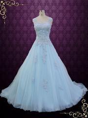 Blue Cinderella Style Ball Gown Wedding Dress   Seattle   Ieie's Wedding Dress Boutique