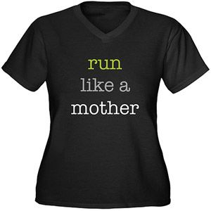 Cafepress Women's Plus Size Run Like A Mother  Graphic T-shirt