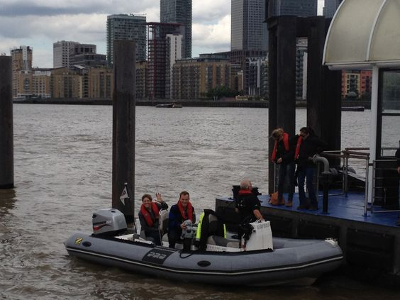 Shinesquad Production Team filming on the River Thames for Art on Sail