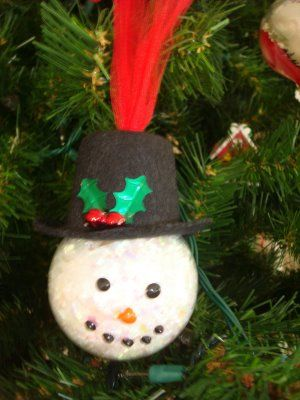 Snowman ornaments coca cola and snowman on pinterest for Glass christmas balls crafts